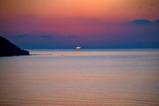 First light over the Mediterranean