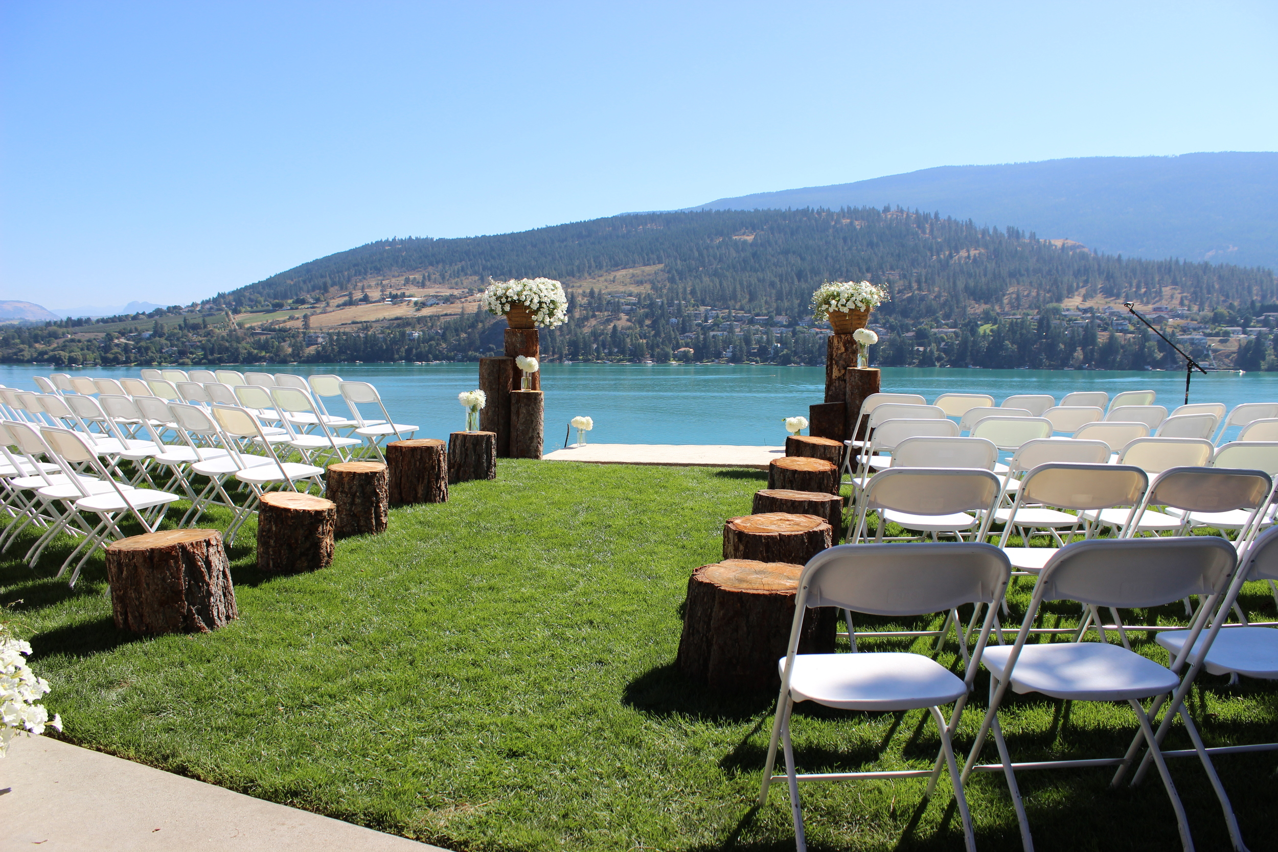 Beautiful setting for a wedding ceremony.