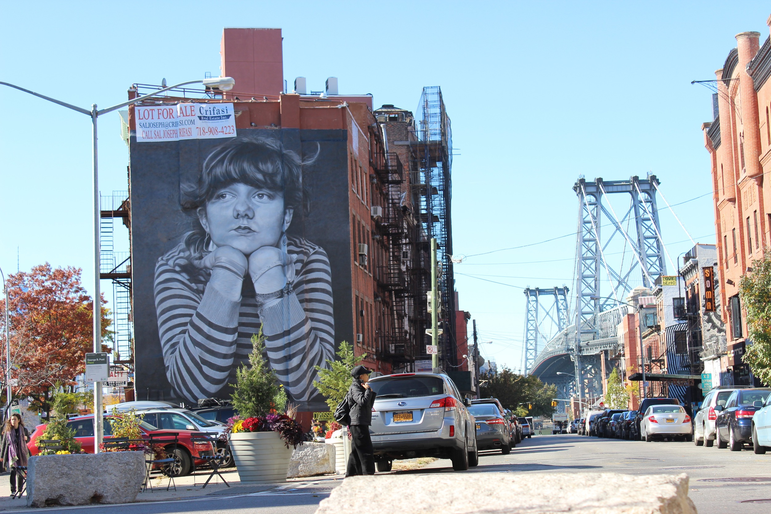 So much great street art in Brooklyn.
