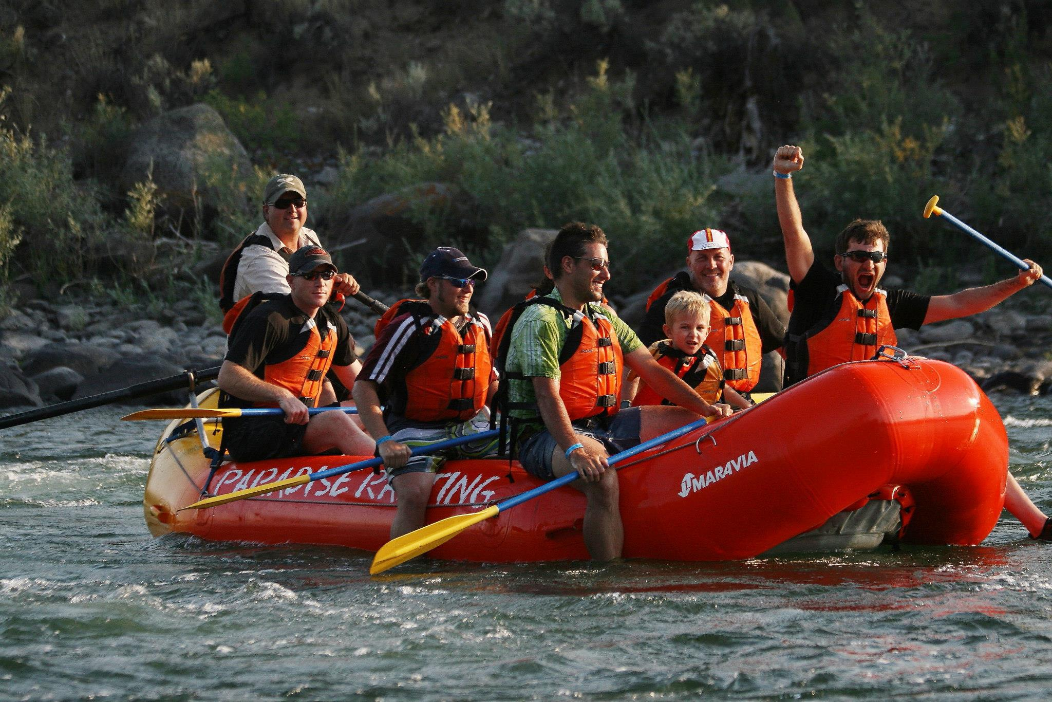 I rafted in Montana