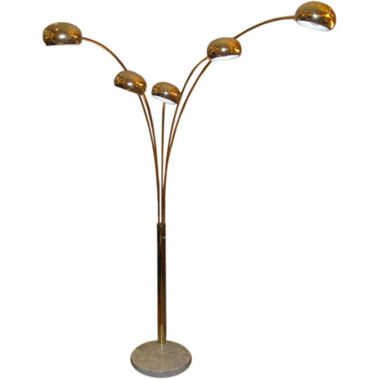 Brass 5 Arm Arc Lamp Mixit Design