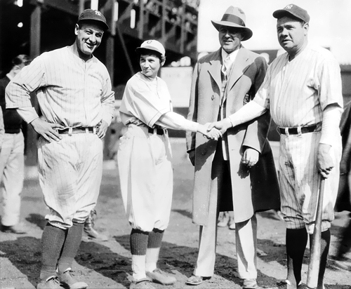 Jackie Mitchell the women who struck our Babe Ruth and LouGehrig.