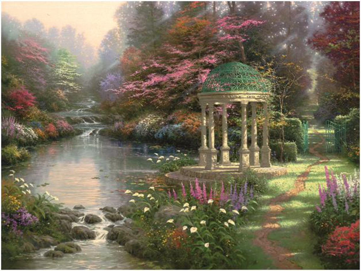 Garden of Prayer by Thomas Kinkade | Courtesy Fremont Center for the Arts