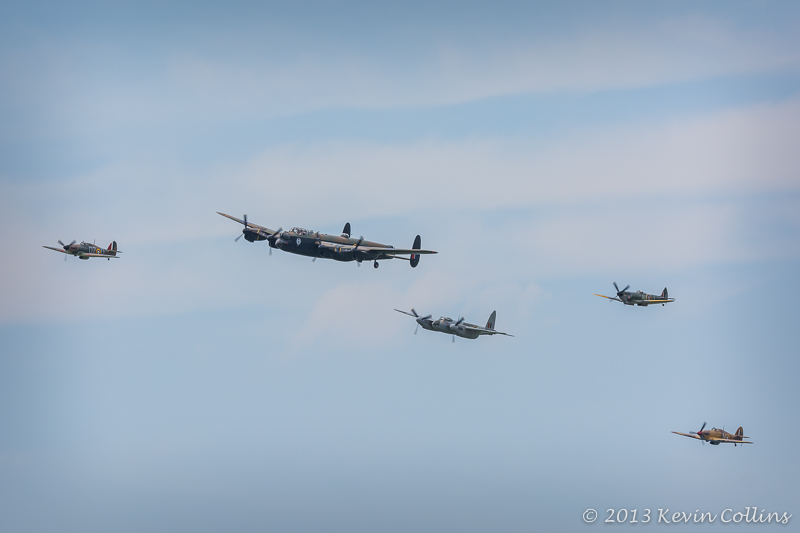 Hawker Hurricane, Avro Lancaster Mk.X, De Havilland Mosquito, Supermarine Spitfire Mk.XVI, Hawker Hurricane Mk.IV