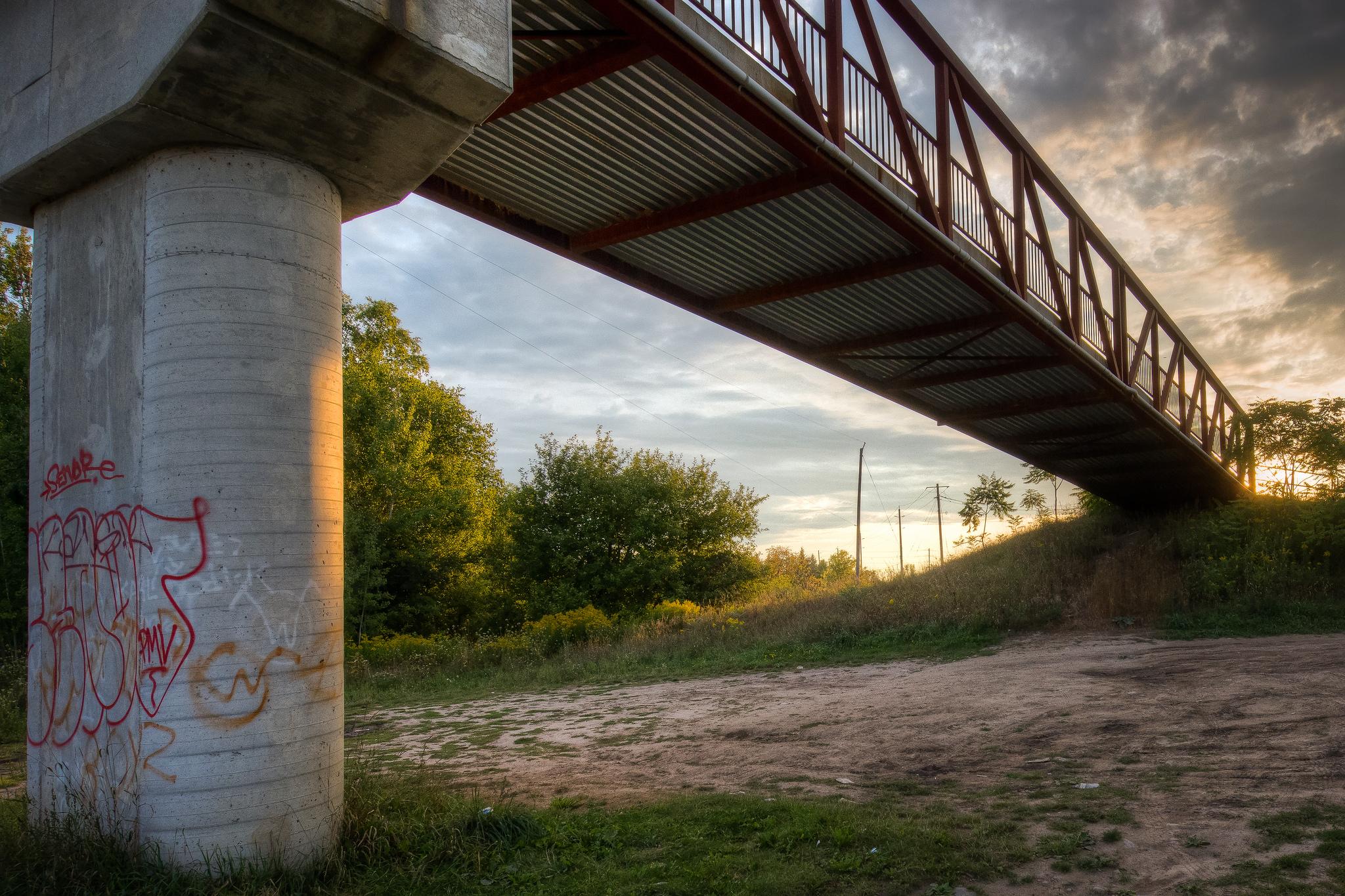 Under the Bridge (1/640s, f/9, ISO1000)