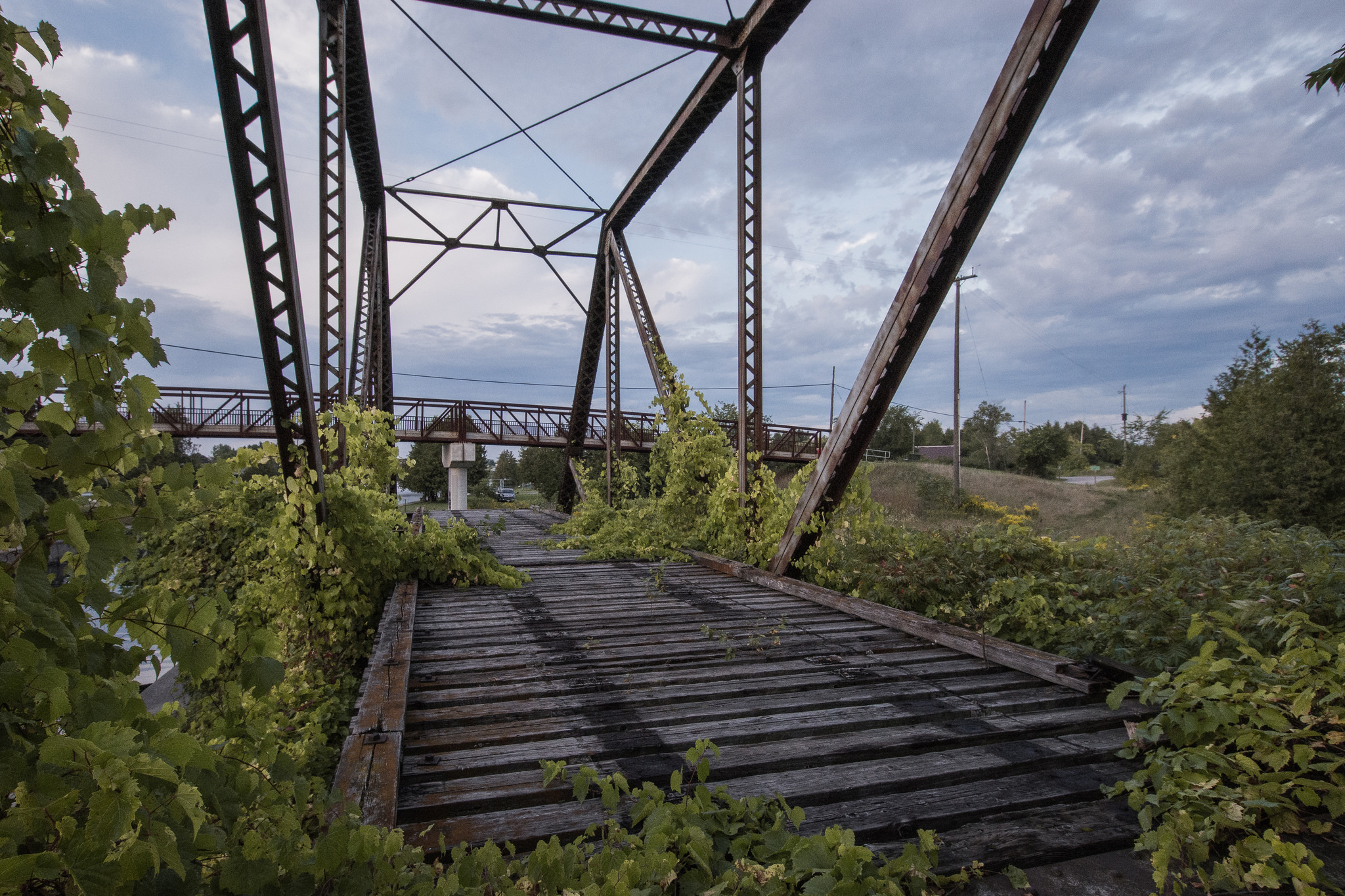 Overgrown Swinging Rail Bridge (1/125s, f/11, ISO1600)