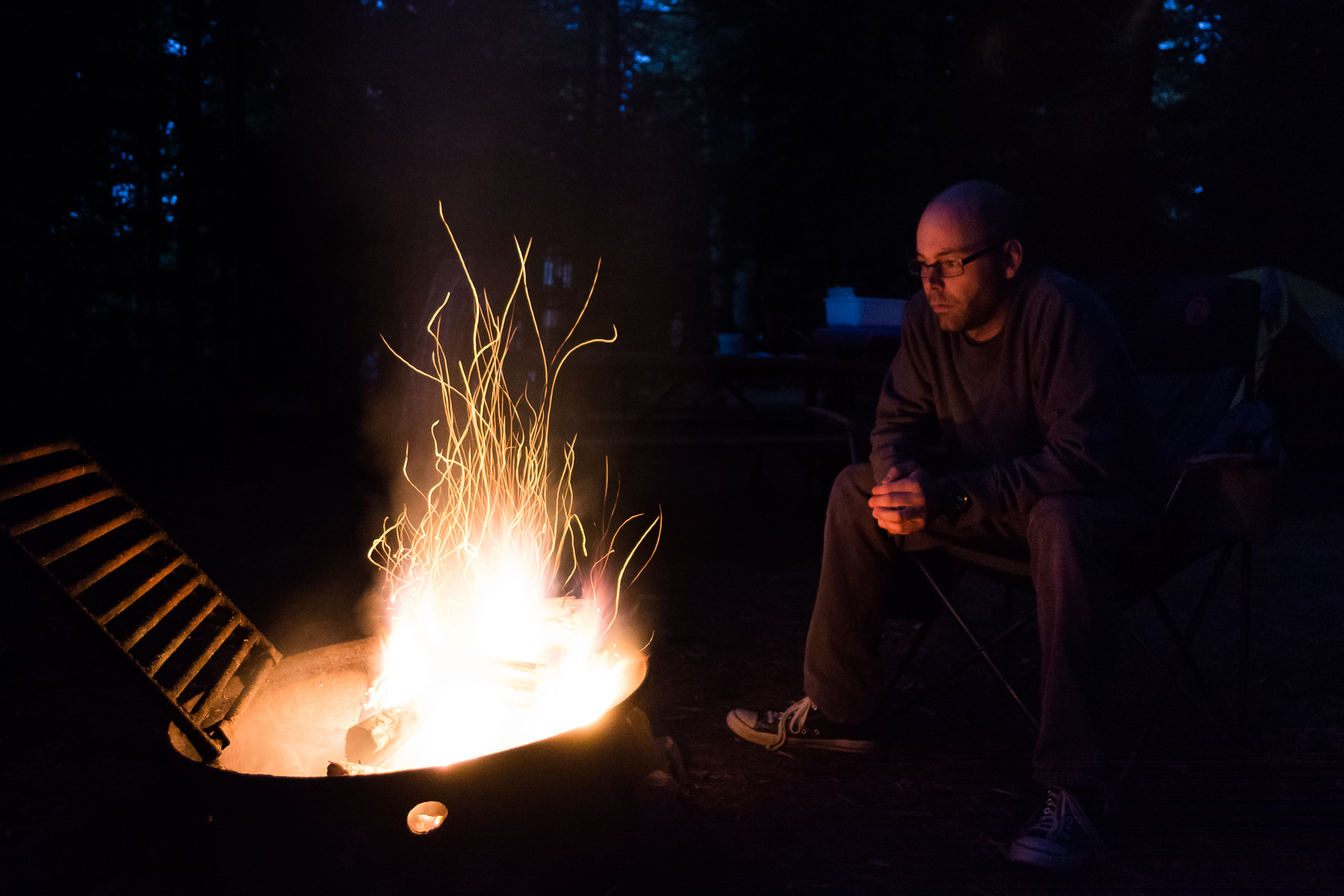 Sitting by the Fire (2s, f/3.5, ISO3200)