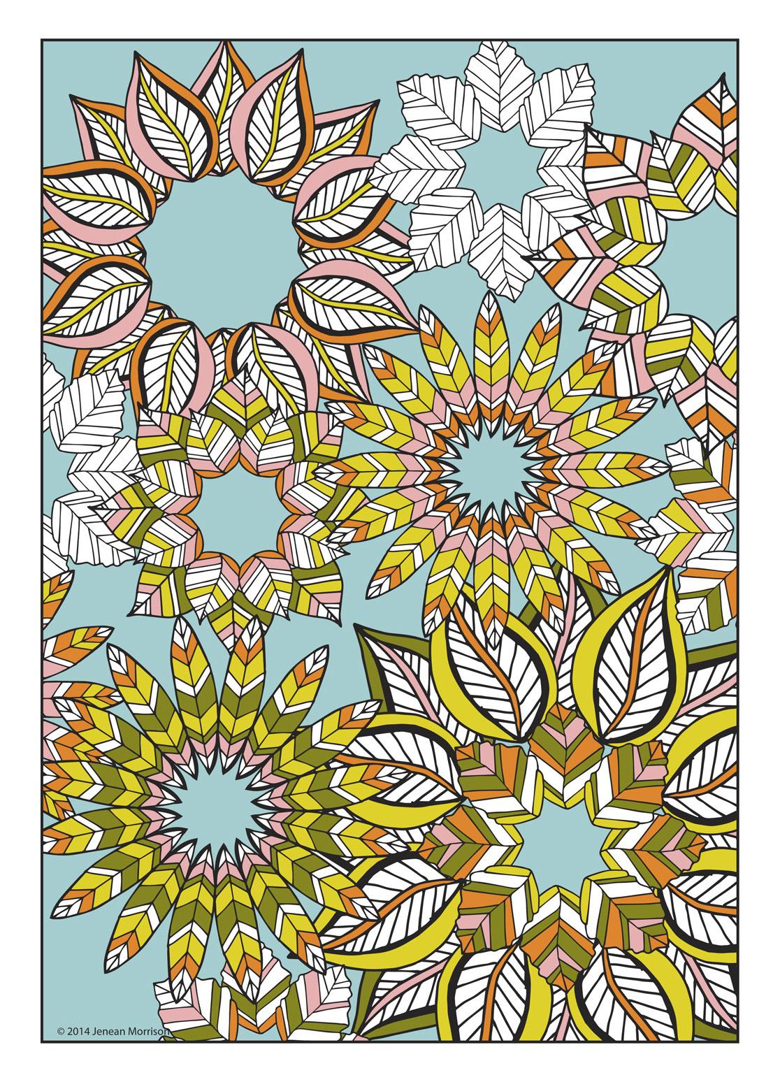 flower designs coloring book jenean morrison art amp design