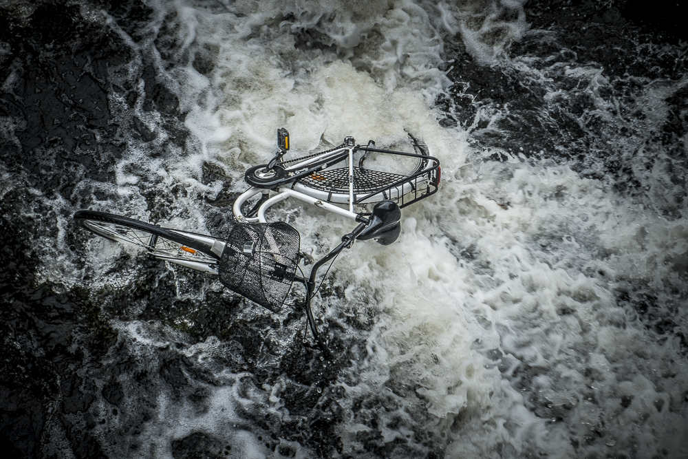 Bicycle in water