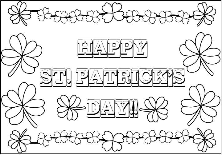 st patrick 39 s day coloring sheets my art to inspire