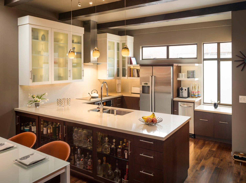 san francisco castro condo modern kitchen — design set match