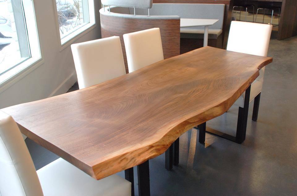 live edge black walnut dining table