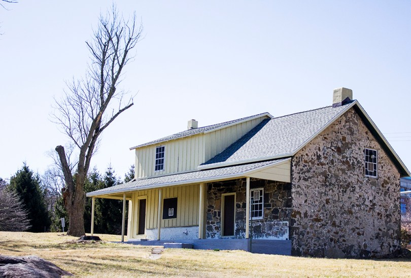 You can see interior (log cabin) photos of the Sarah Brooks House in its current state here.