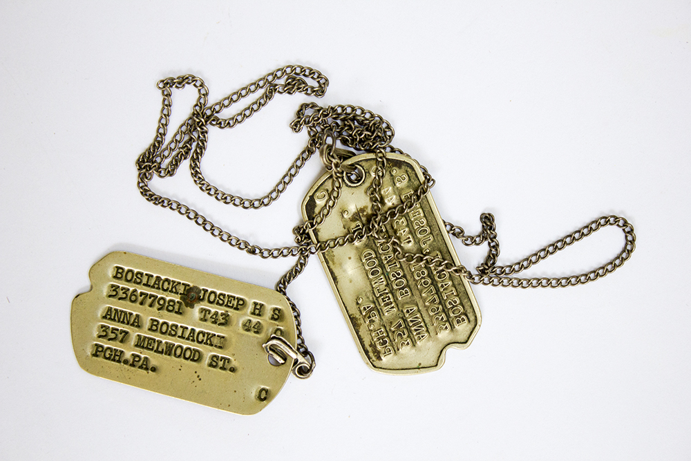 Uncle Joe's dog tags.