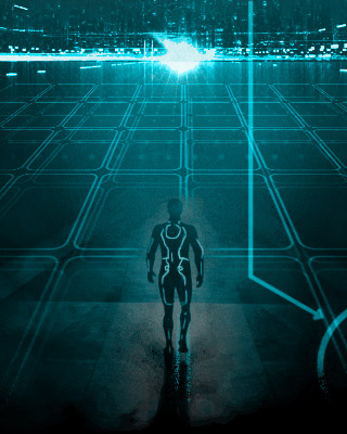 Fan Made Movie Poster Art For Tron Legacy Looper And
