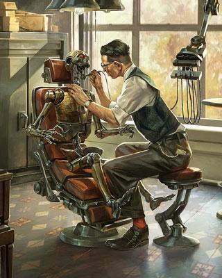 Norman Rockwell Style Sci Fi Pinocchio Art GeekTyrant