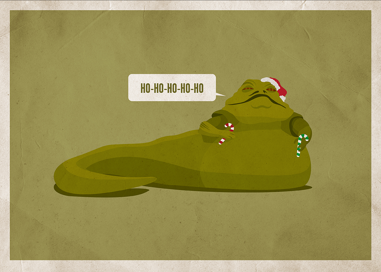 New STAR WARS And STAR TREK Christmas Card Art By Scott