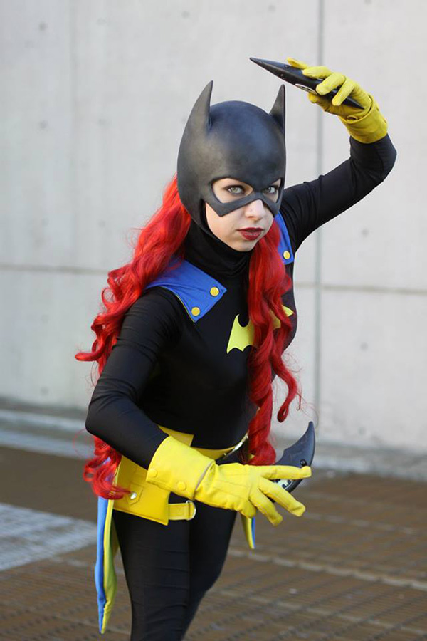 Two Batgirl Character Designs Combined In One Cosplay