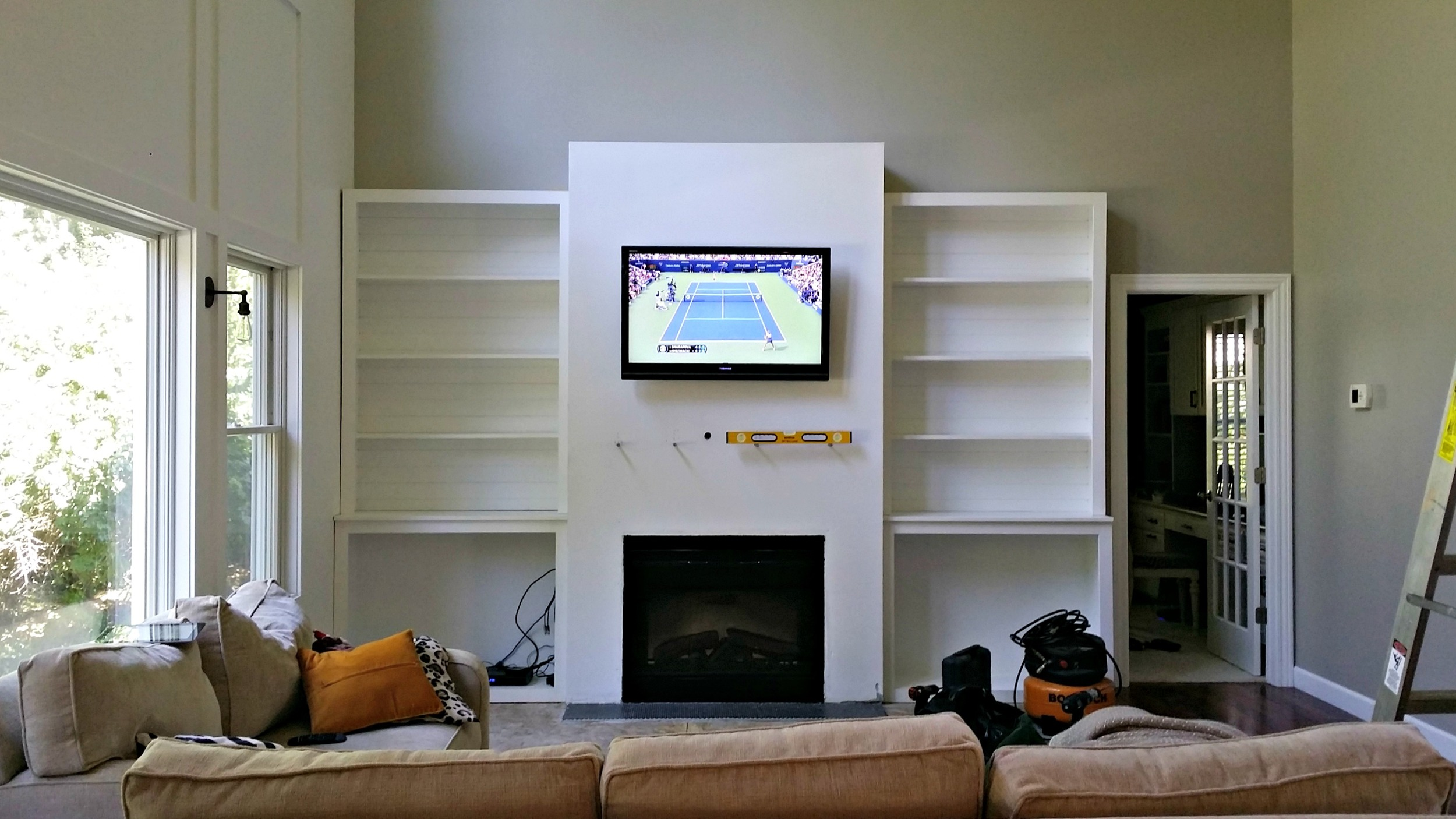 "Living Room Built-Ins ""Tutorial"" + Cost"