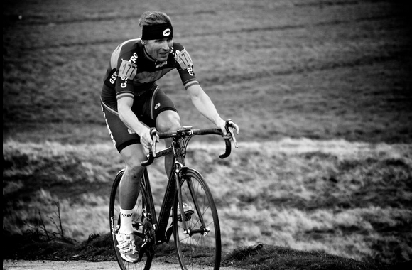 Ben Lane of the GS Metro Club on The Stang, UK National Hill Climb Championships 2013