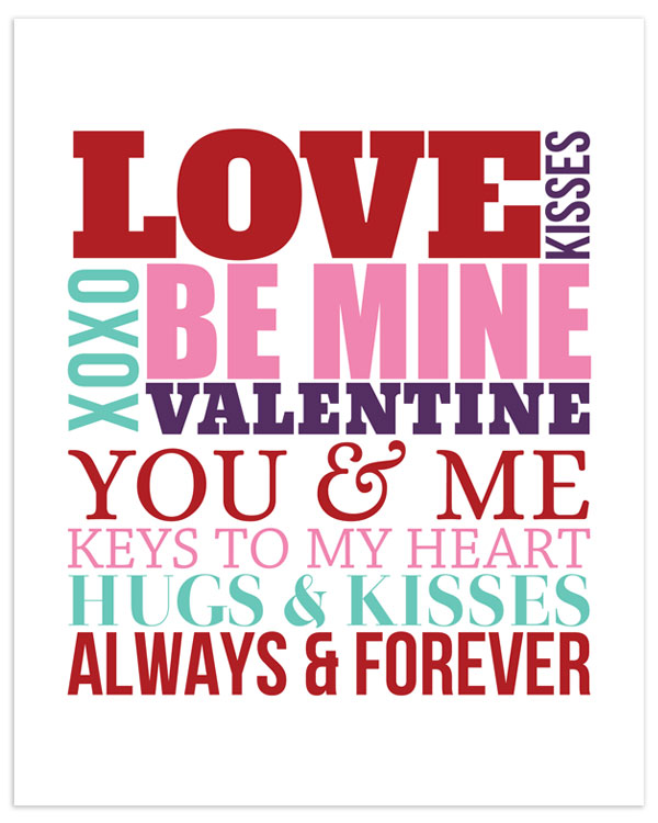 Valentines Day Subway Art Free Printable Angie Sandy Art