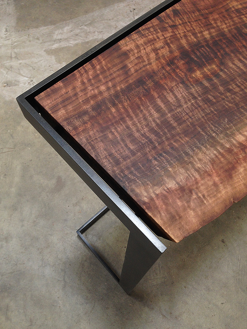 Claro Walnut Live Edge Suspended Console Taylor Donsker