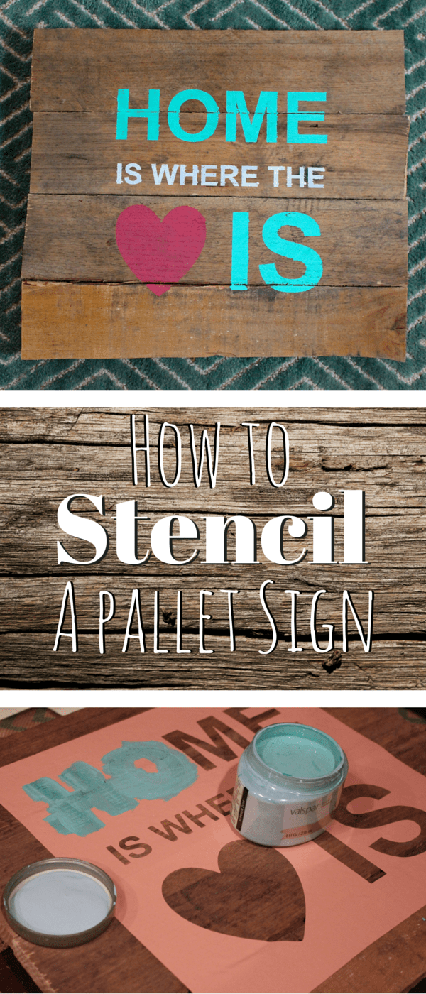 How To Stencil A Pallet Sign And Free Cut File Weekend Craft