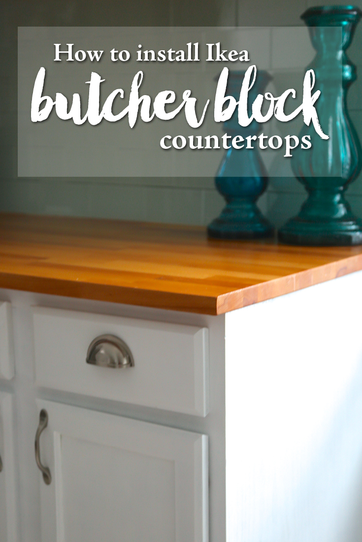 How To Finish Ikea Butcher Block Countertops Weekend Craft