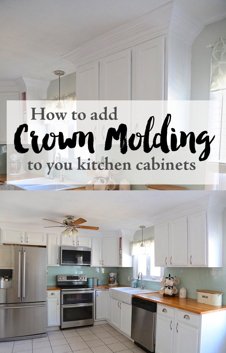 Best Kitchen Gallery: Adding Crown Molding To Your Kitchen Cabi S Weekend Craft of Adding Crown Molding To Kitchen Cabinets on cal-ite.com