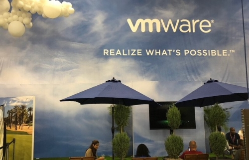 Attendees take a quick break from the activities at VMworld 2018