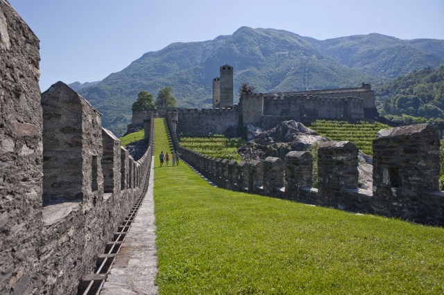 Visit of the Castelgrande, UNESCO World Heritage. Copyright by Ticino Turismo