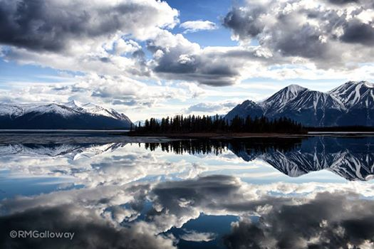 We escaped for a night down to Atlin. This was the view when we drove down to the water. Breath taking.