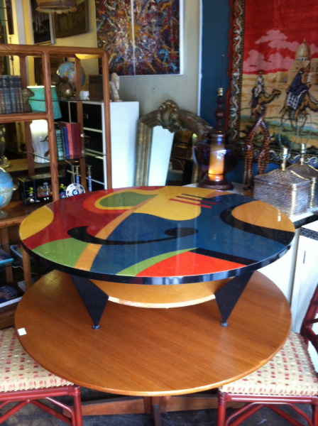 Color Me Happy Colorful 80s Round Coffee Table Casa