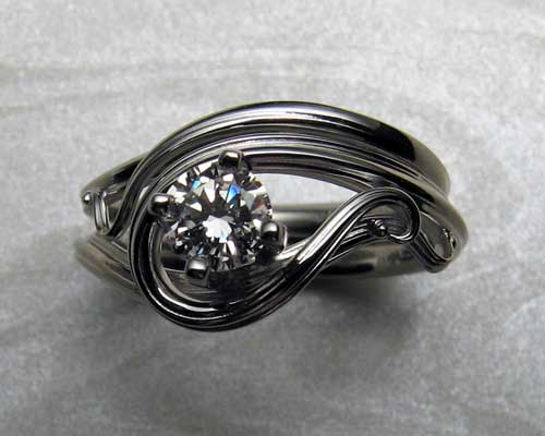 Viking Dragon Engagement Ring Metamorphosis Jewelry