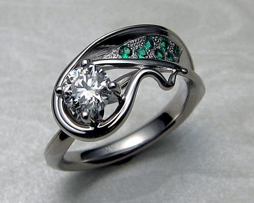 Very Unusual Organic Free Form Ring Metamorphosis Jewelry