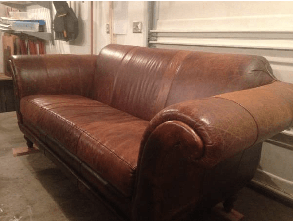 like new anthropologie leather cotswold sofa 1495