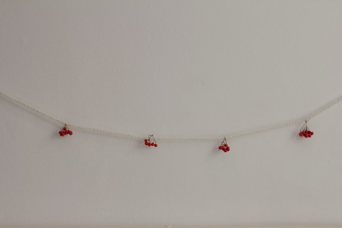 crochet berry garland holiday decorations