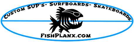 Flishlanx custom built skateboards and SUP's