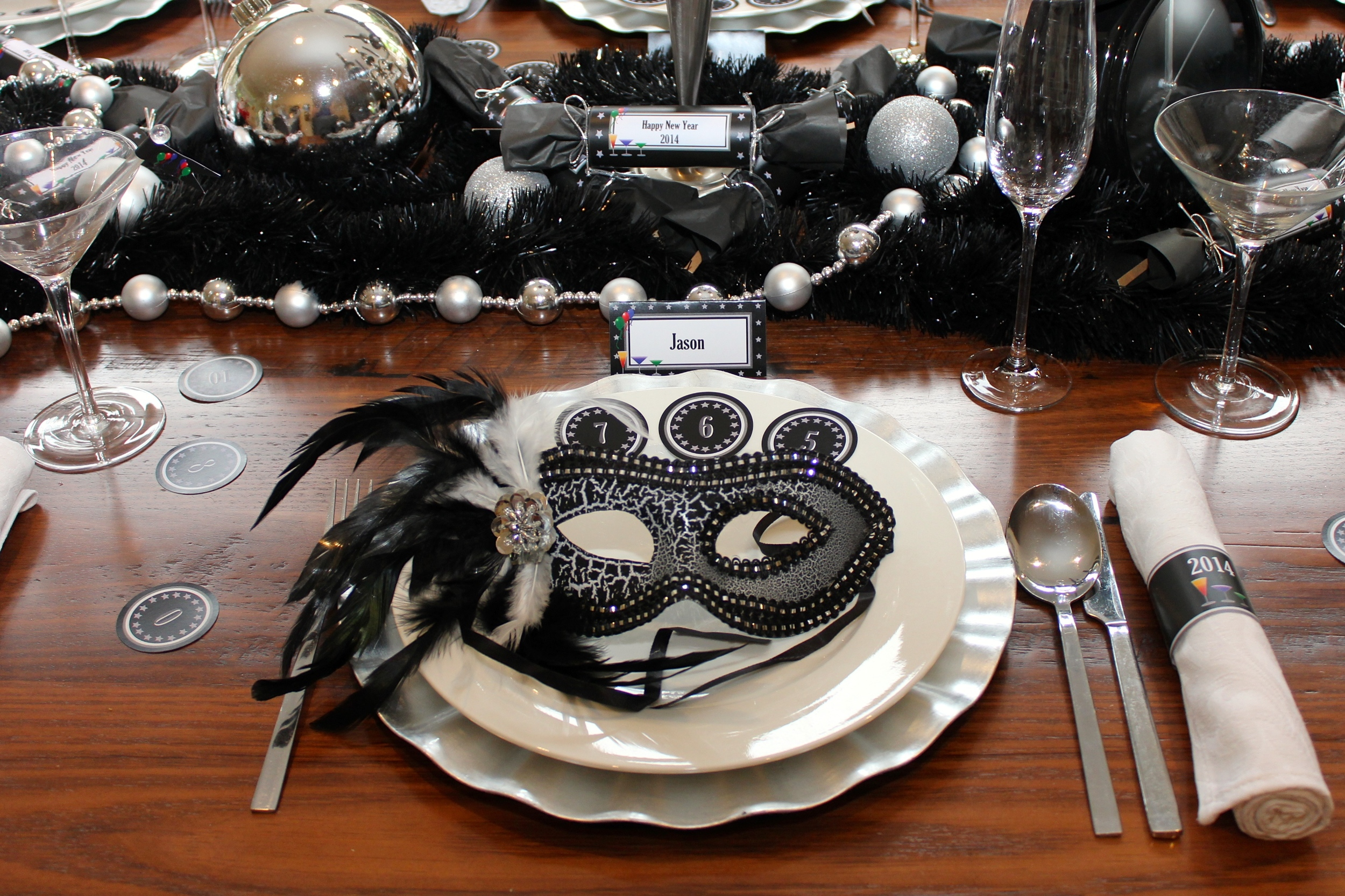 New Years Eve Masquerade Dinner Party Chic Party Ideas