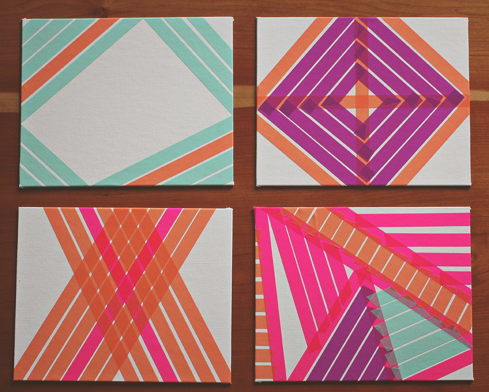 DIY Washi Tape Art A Study On Patterns And Color A