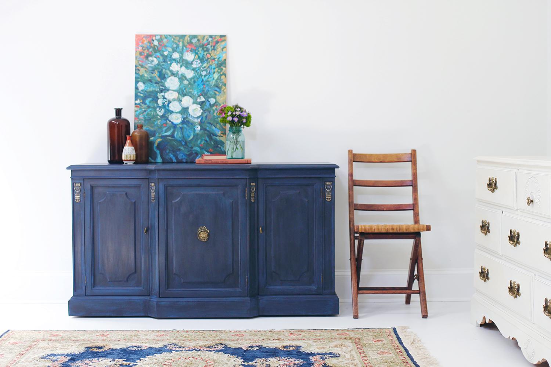 Regal In Blue Pairing Annie Sloans Black Wax With