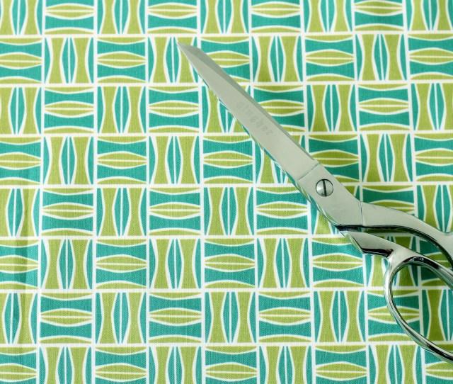 Tiki Fabric Retro Teal And Avocado