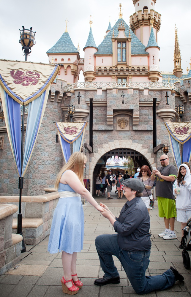 Fairytale Proposal Outside Cinderellas Castle Vacation