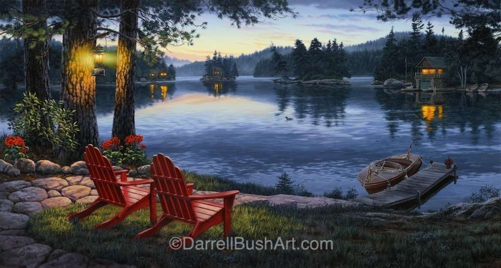 Twilights Calm Darrell Bush Art