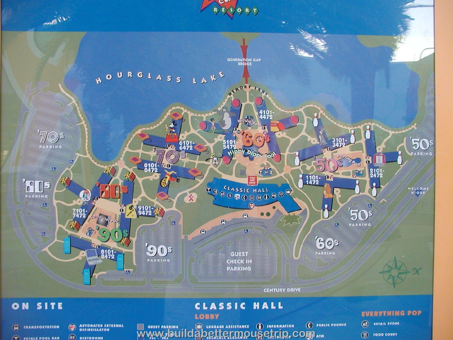 Disneys Pop Century Resort Map
