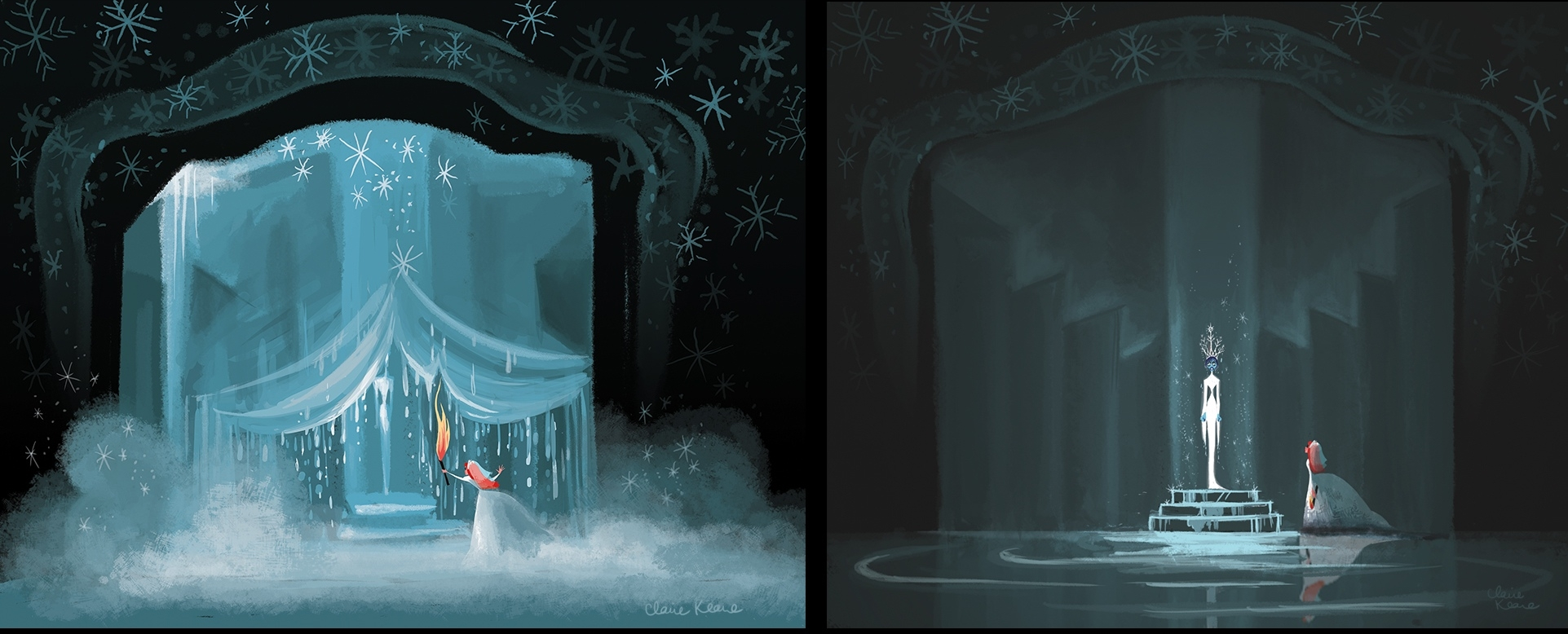ANNA THAWING THE SNOW QUEEN // VISUAL DEVELOPMENT FOR FROZEN