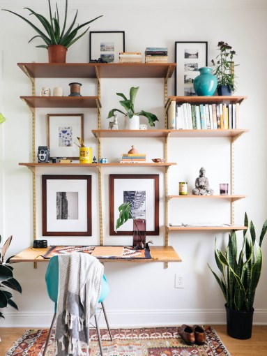 DIY Mid Century Desk Wall Unit     OLD BRAND NEW TOOLS