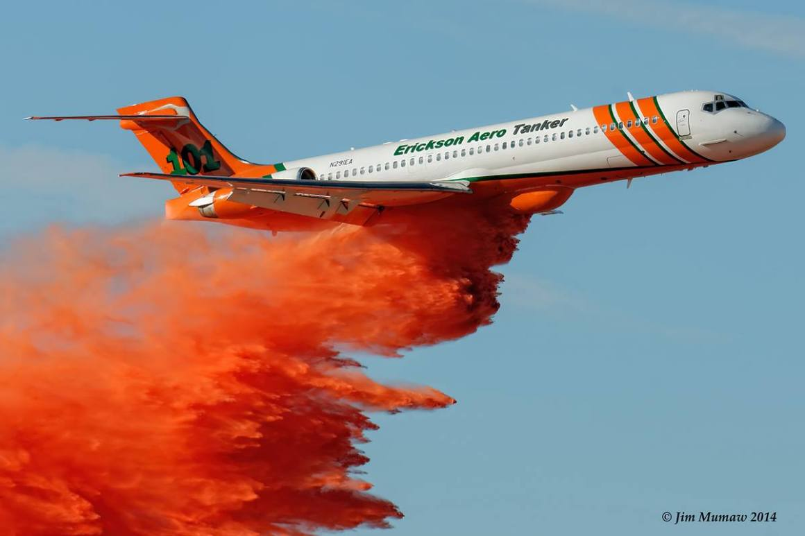 The world's first MD-87 fire-fighter tanker.