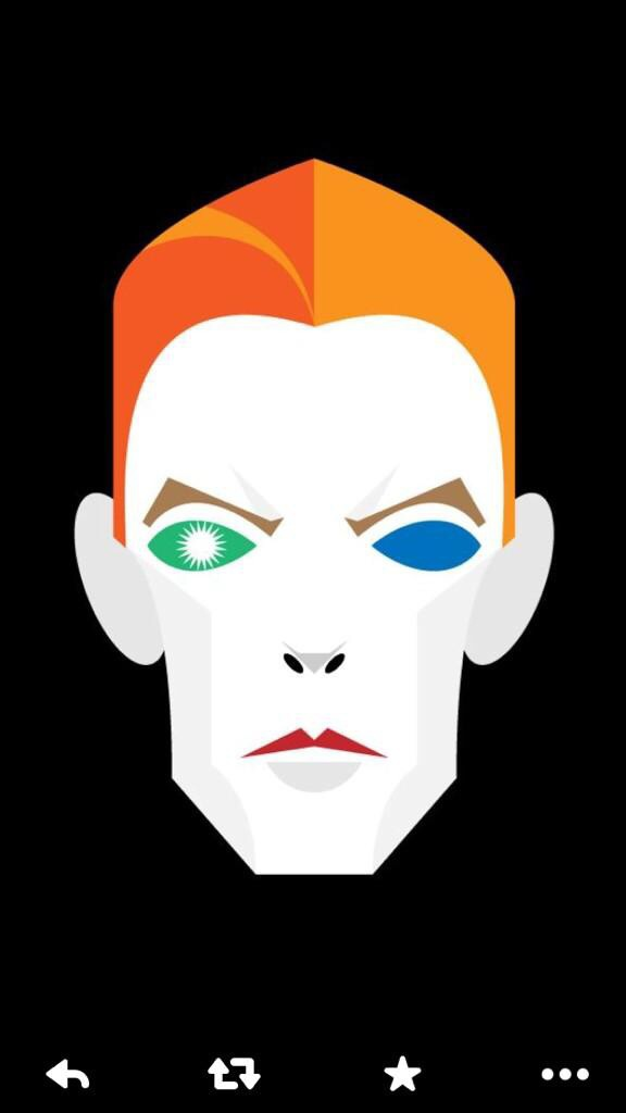 Bowie illustration by Stan Chow