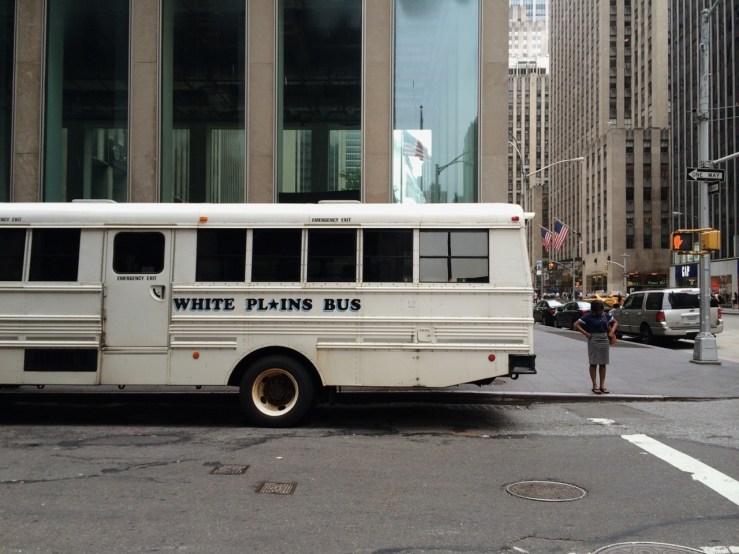 WHITE PL⭐️INS BUS #nyc